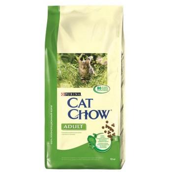 """Cat Chow / Кэт Чоу """"Adult"""" сухой 15 кг для кошек Крольчатина Печень"""