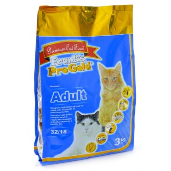 Frank's ProGold / Франкс ПроГолд для взрослых кошек: Курица (Adult 32/18) 3 кг