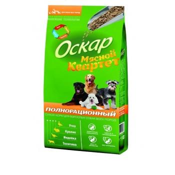 Оскар сух. корм Мясной квартет для собак всех пород 13 кг