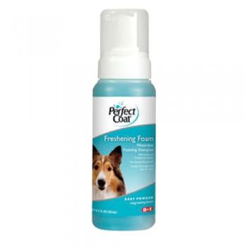 8in1 шампунь для собак PC Freshening Foam без смывания с ароматом детской присыпки пена 251 мл