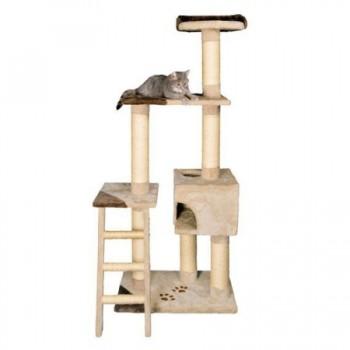 """Trixie / Трикси Домик для кошки """"Montoro"""" высота 165см плюш бежевый/коричневый 43831"""