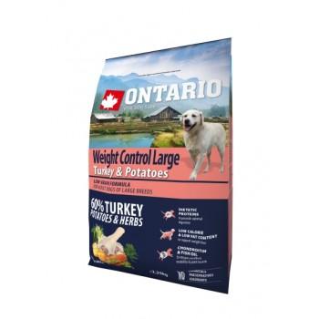 Ontario / Онтарио для собак крупных пород Контроль веса с индейкой и картофелем 2,25 кг