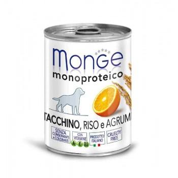 Monge / Монж Dog Monoproteico Fruits консервы для собак паштет из индейки с рисом и цитрусовыми 400г