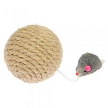 PERSEILINE ШАР-КОГТЕТОЧКА с мышкой джут 8 см (00725/ИК-22)