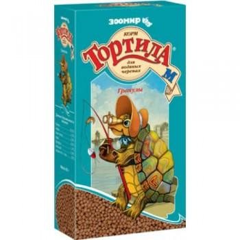 `Тортила М` гранулы корм для водяных черепах 90 г (1х24) 904 (Зоомир)