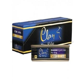 Clan / Клан De File консервы для кошек Кролик, 0,1 кг