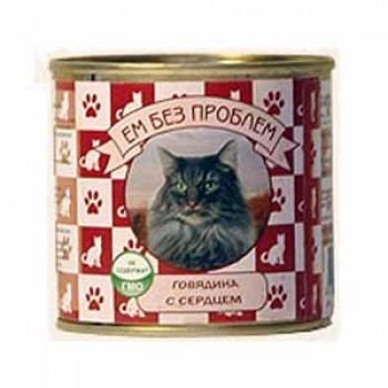 ЕМ БЕЗ ПРОБЛЕМ Говядина с сердцем для кошек 250 г