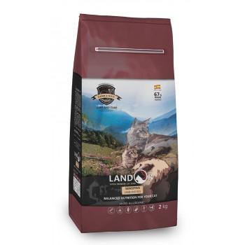 Landor / Ландор сухой корм для взрослых кошек с чувствительным пищеварением ягненок с рисом 2 кг