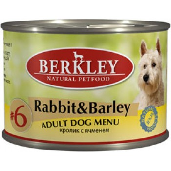 Berkley / Беркли кон. д/собак кролик с ячменём №6 200гр