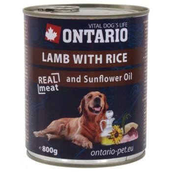 Ontario / Онтарио Консервы для собак: ягненок и рис 0,8 кг