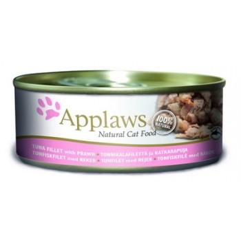 Applaws / Эпплаус Консервы для кошек с филе Тунца и Креветками 0,156 кг