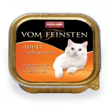Animonda Vom Feinsten Classic конс. 100 гр. с Домашней птицей и телятиной для кошек (ламистер) 83437