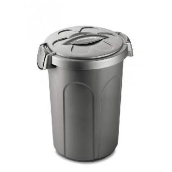 Stefanplast / Стефанпласт Контейнер Tom 46 л для 16 кг корма, серебряный, 44,5x40x61 см
