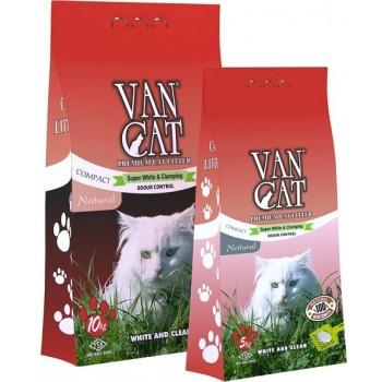 """Van Cat Комкующийся Наполнитель """"100% Натуральный"""", без пыли, пакет (Natural) 5 кг"""