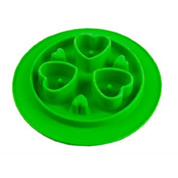 SuperDesign миска силиконовая для медленного поедания светло-зеленая