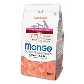 Monge / Монж Dog Speciality Extra Small корм для взрослых собак миниатюрных пород лосось с рисом 2,5 кг