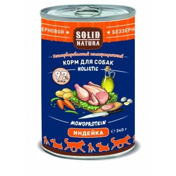 Solid Natura / Солид Натур Индейка влажный корм для собак жестяная банка 0,34 кг