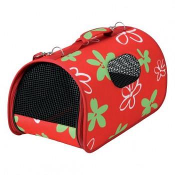Zolux / Золюкс Сумка-переноска для кошек и собак, 25*43,5*28,5 см, M, голубая/красная