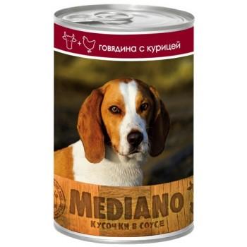 VITA PRO MEDIANO Консервы для собак кусочки в соусе говядина/курица 405г ж/б /24/ 72164133