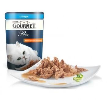Gourmet Perle / Гоурмет Перле для кошек Мини-Филе Тунец (пауч) 85 гр