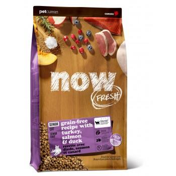 Now! / Нау! Контроль веса Беззерновой для Кошек с Индейкой, Уткой и овощами (Fresh Grain Free Senior Cat Recipe 30/14), 3,63 кг