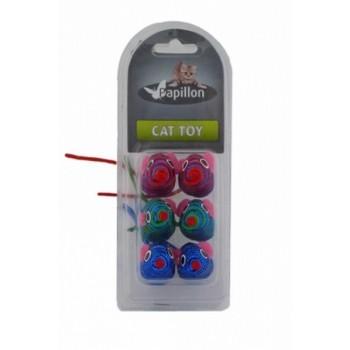Papillon / Папиллон набор игрушек 6шт. Разноцветные Мышки, 5см