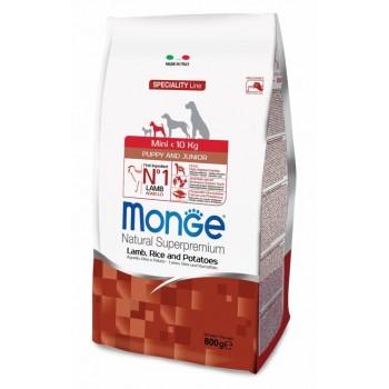 Monge / Монж Dog Speciality Mini корм для щенков мелких пород ягненок с рисом и картофелем 800г