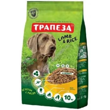 Трапеза сух.д/собак Ягненок с рисом 10кг