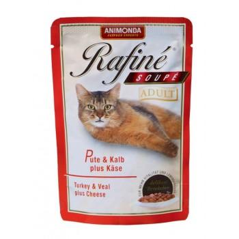 Animonda Rafine Soupe Adult конс. 100 гр. Коктейль из мяса индейки, телятины и сыра для взрослых кошек (пауч) 83654 (83480)