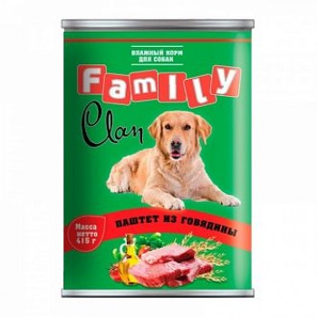Clan / Клан Family консервы д/собак паштет из говядины, 0,415 кг