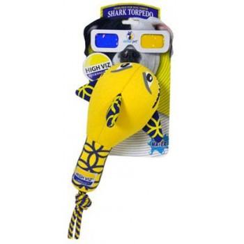 """R2P игрушка для собак High-Viz """"Акула"""" неопреновая для игр на воде 24 см"""
