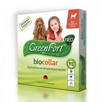 Green Fort / Грин Форт БиоОшейник от блох и других эктопаразитов д/собак средних пород 65см