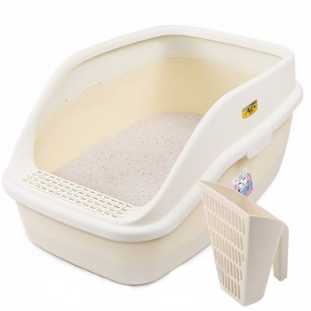 Catidea Туалет 63х45х30 см, XXL, с совком, кремовый