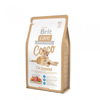 Brit / Брит Care Cat Cocco Gourmand беззерновой, для кошек-гурманов, 7 кг