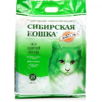 Сибирская Кошка Элита ЭКО 16л (зеленые гранулы)