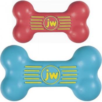 JW Игрушка д/собак - Косточка с пищалкой, каучук, маленькая iSqueak Bone Sm (43035)