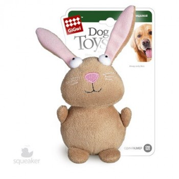 GiGwi 75053 Игрушка д/собак Кролик с пищалкой