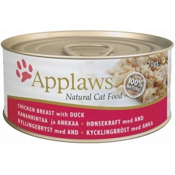 Applaws / Эпплаус Консервы для кошек с Курицей и Уткой 0,07 кг