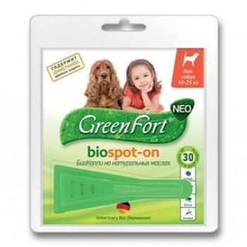 Green Fort / Грин ФортГрин Форт G202 БиоКапли д/собак 10-25кг от эктопаразитов 1пипетка*1,5мл