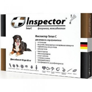 Inspector / Инспектор Капли д/собак от внешних и внутренних паразитов 40-60кг