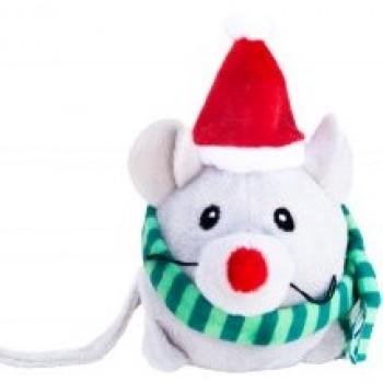"""Kong / Конг Holiday игрушка для кошек """"Приятели"""" 13 см, с кошачьей мятой, мышка или санта в ассортименте"""