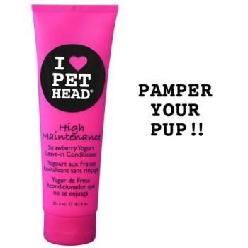 """Pet Head Кондиционер несмываемый Клубнично-йогуртовый """"Телезвезда"""" для собак, без сульфатов и парабенов (HIGH MAINTENANCE ) PH10203"""