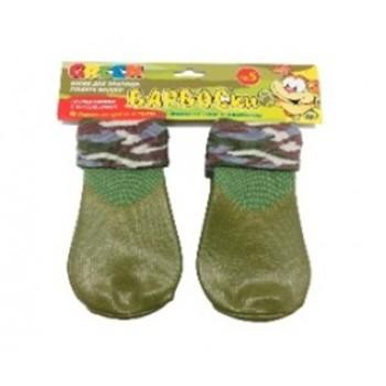 БАРБОСки носки д/собак, высокое латексное покрытие, цвет - зеленый размер - 5