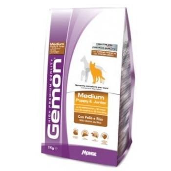 Gemon / Гемон Dog Medium корм для щенков средних пород курицей с рисом 15 кг