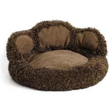 "Midwest / Мидвест лежанка Paw Bed плюш-замша 53 x53 x17,7h см ""Лапа"" с бортом шоколадная"