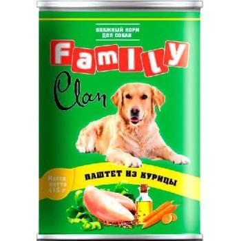 Clan / Клан Family консервы д/собак паштет из курицы, 0,415 кг