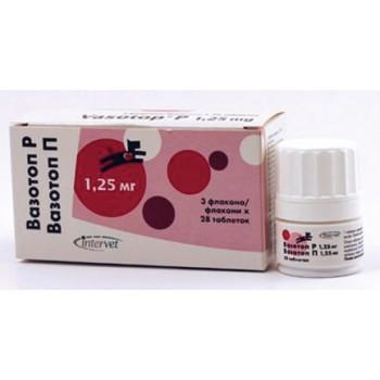 Вазотоп (Intervet) P №28 препарат для контроля артериального давления у собак и кошек 1,25 мг