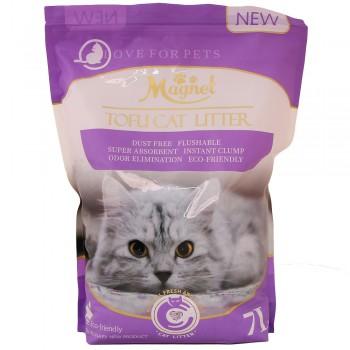 Magnet Наполнитель комкующийся, растительный Tofu Cat Litter, Lavender 7 л