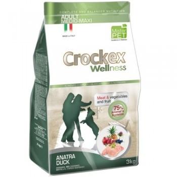 CROCKEX / КРОКЕКС Wellness сухой корм для собак средних и крупных пород 3 кг утка с рисом MCF3503