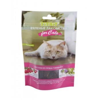 TitBit / ТитБит Вяленые лакомства Кусочки из сердца говяжьего для кошек 50 г